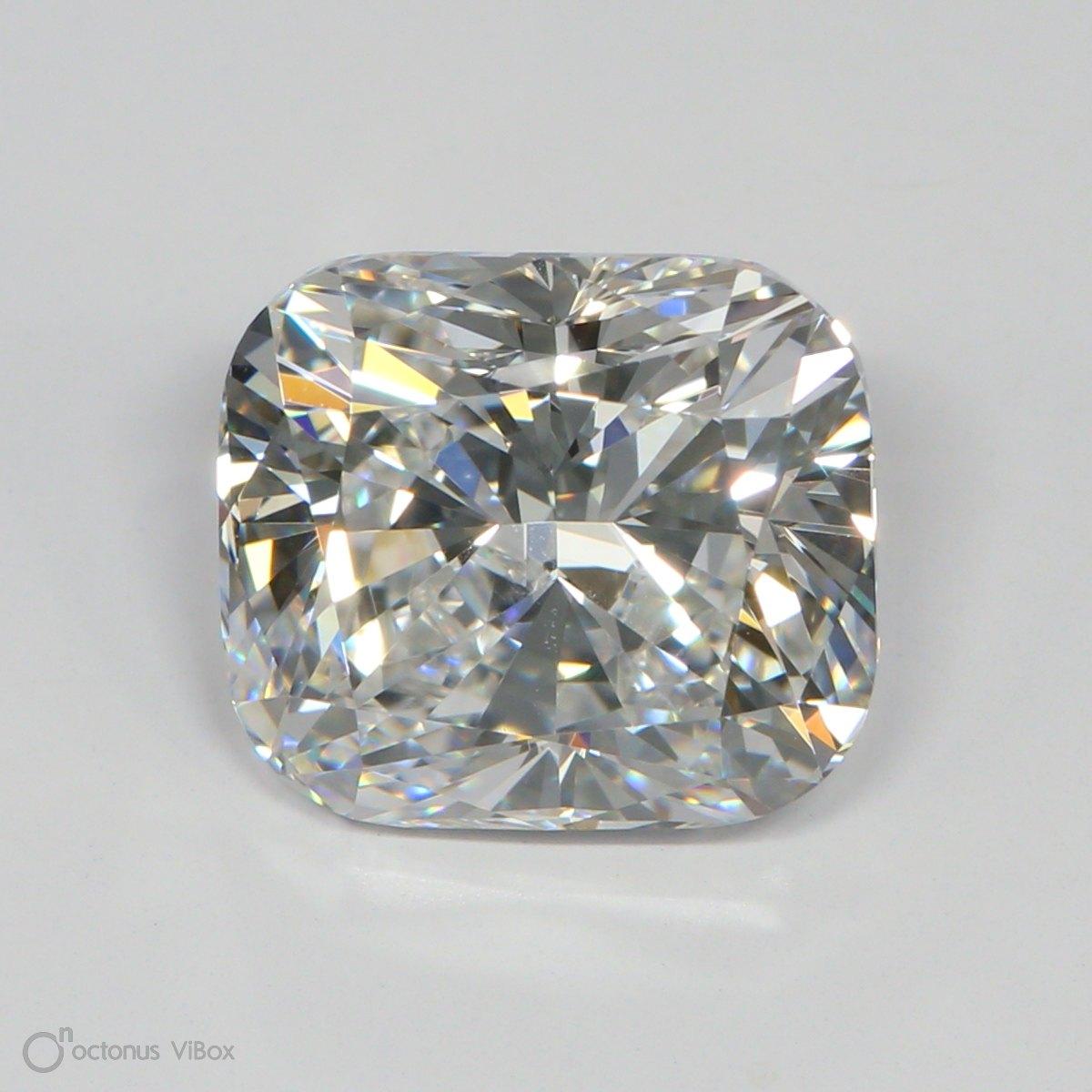 3.26 Carat E-VVS2 Ideal Cushion Diamond